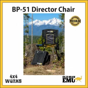 Old Man Emu BP-51 Directors Camping Chair with mini Table & Pouch