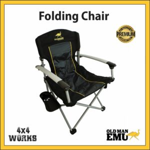 Old Man Emu Camping Chair with mini Table & Drink Holder