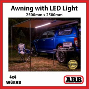 ARB Awning with LED Lighting 2500x2500mm