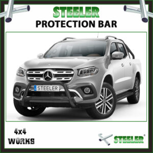 Steeler Black Steel A Bar Mercedes-Benz X-Class 2017-on Front Protection