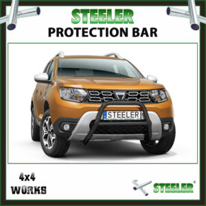 Steeler Black Steel A Bar Dacia Duster 2018-on Front Protection