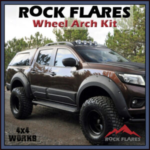 Rock Flares Wide Wheel Arches Nissan Navara NP300 D23 2015-on Bolt Look