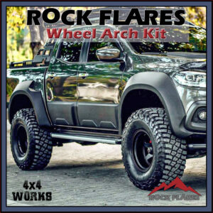 Rock Flares Wide Wheel Arches Mercedes-Benz X-Class Pickup 2017-on Smooth Look