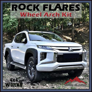 Rock Flares Wide Wheel Arches Mitsubishi L200 Series 6 MR 2019-on Bolt Look