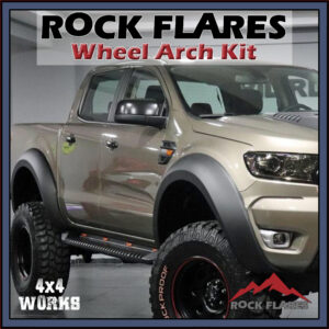 Rock Flares Wide Wheel Arches Ford Ranger T6 T7 T8 PX PX2 PX3 2011-on Smooth Look