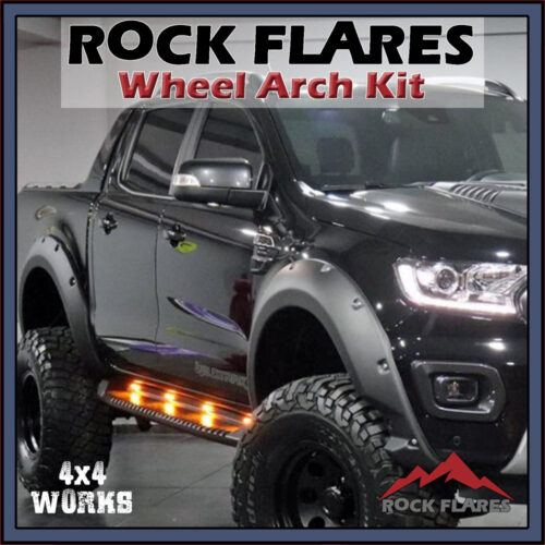 Rock Flares Wide Wheel Arches Ford Ranger T8 PX3 2019-on Bolt Look