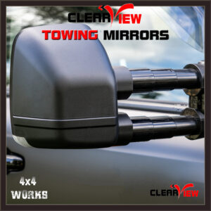 Clearview Towing Mirrors Toyota Hilux 2005-15 Series 7 Extending Pair Classic Next Gen
