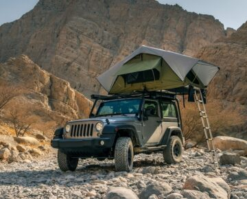 Vehicle and tent