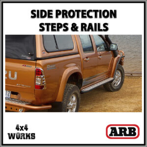 ARB Protection Side Steps and Rails Isuzu D-Max Series 1 2002-12
