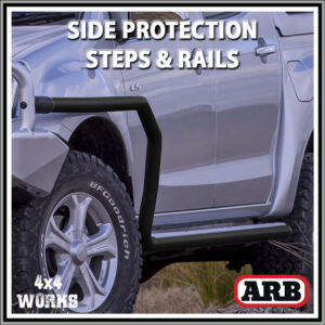 ARB Protection Side Steps and Rails Isuzu D-Max Series 2 2012-20