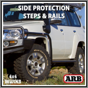 ARB Deluxe Protection Side Steps and Rails Nissan Patrol GU Y61 1997-10