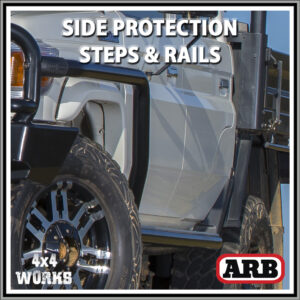 ARB Protection Side Steps and Rails Toyota Land Cruiser 79 Series Single Dual Cab 2007-on