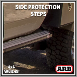 ARB Summit Protection Side Steps Toyota Land Cruiser 78 Series Troop Carrier 2007-on