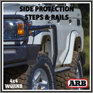 ARB Protection Side Steps and Rails Toyota Land Cruiser 78 Series Troop Carrier 2007-on